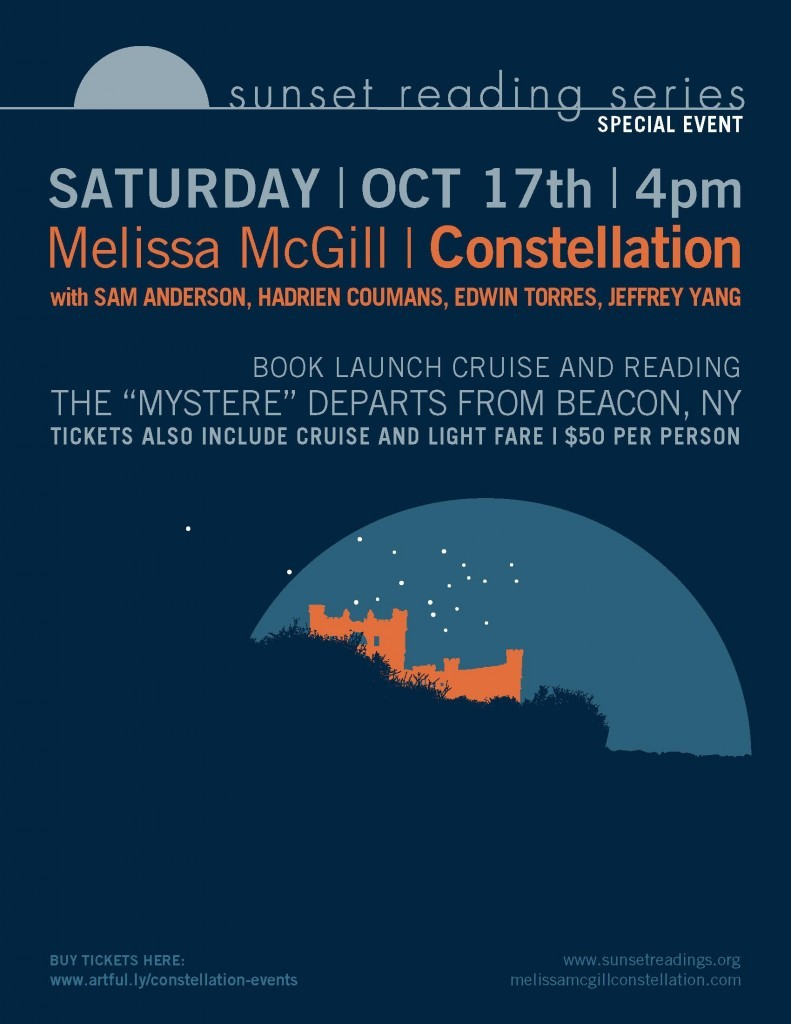 Constellation Book Launch Cruise & Reading October 17, 2015