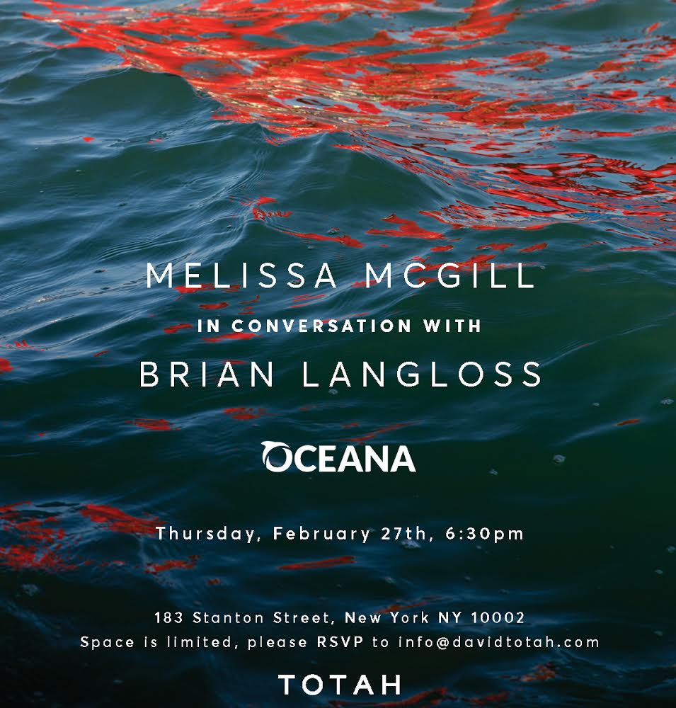 Artist Melissa McGill and Oceana's Brian Langloss in conversation at TOTAH, February 27th, 2020